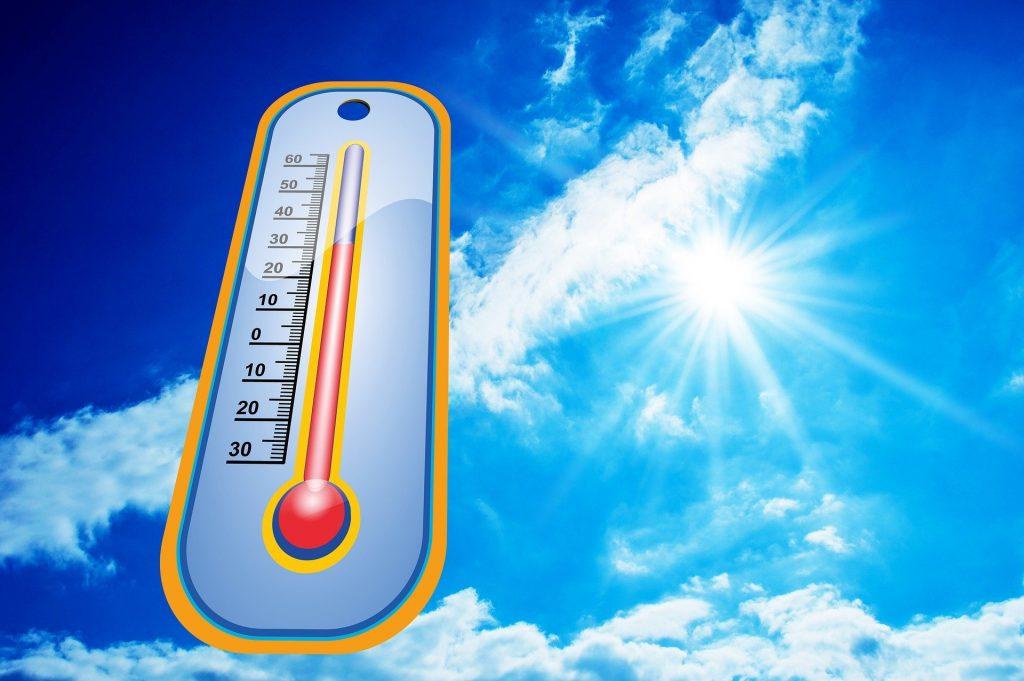Warnung vor Hitze